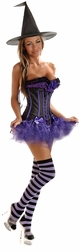 Plus Size 4 PC Naughtiest Witch Costume
