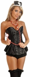 Plus Size 3 PC Sexy Dark Nurse Costume