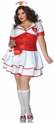 Plus Size Naughty Nurse Nightengale Costume