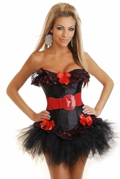 Luscious Temptation Corset and Pettiskirt