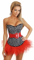 Polka Dot Babe Corset and Pettiskirt