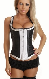 Ruffled Full-Back Burlesque Corset