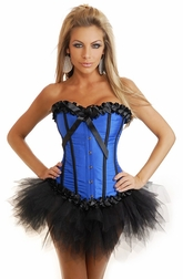 Into the Blue Sexy Corset  & Pettiskirt