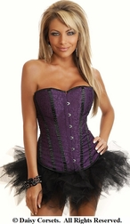 Purple Diva Burlesque Corset & Pettiskirt