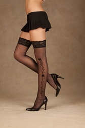Lace Top Thigh High w/Applique
