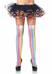 Colorful Striped Thigh Highs