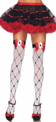 Woven Card Suit Thigh Highs
