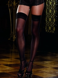 Black Diamond Sheer Thigh High