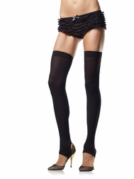 Opaque Stirrup Thigh Highs