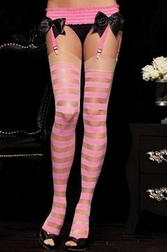 Sheer Opaque Stripe Stockings