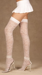 Flower Lace Thigh High