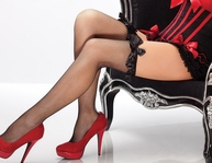 Stockings With Satin Bow Detail