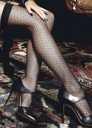 Jacquard Net Thigh High