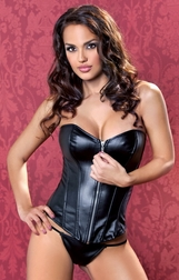 Feel So Close Leather Zipper Corset