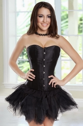 Naughty By Nature Strapless Corset & Pettiskirt