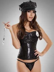 4 PC Sequin Cop Costume
