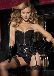 Let Me Teach You A Lesson Leather Corset