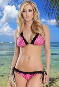 Seducing The Waves Polka Dot Bikini Set