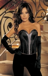 Diamond Satin Strapless Corset