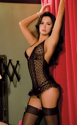 Lace Halter Merry Widow Set