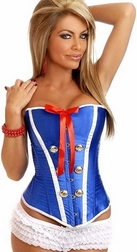 Sexy Sailor Burlesque Corset