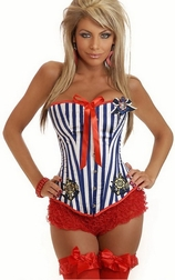 Pin-Up Sailor Burlesque Corset