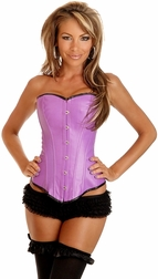 Purple Ravewear Faux Leather Corset