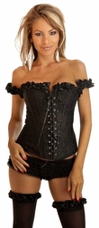Seducing Black Embroidery Corset