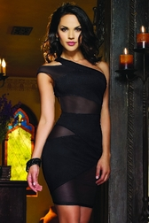 Black Crush Mesh Dress