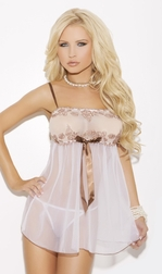 Brown Sugar Lace Babydoll