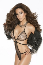 Diamond Fishnet Teddy