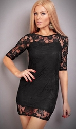 Baby I'm For Real Mini Lace Dress