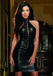 Black Russian Sexy Lace-Up Dress