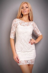 My Marshmallow Dessert White Lace Dress