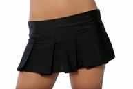 Sexy Black Pleated Mini Skirt