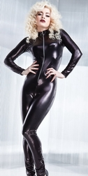 Sexy Wetlook Long Sleeve Catsuit