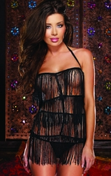 Red Diamond Fringed Desire Sexy Chemise