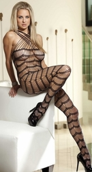 Showy Seamless Wavy Bodystocking