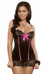 Sequin Lace Collection - Chemise & G-String