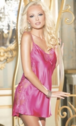 Beautiful Charmeuse And Dyed To Match Scalloped Lace Chemise