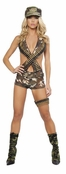 4PC Military Babe Costume