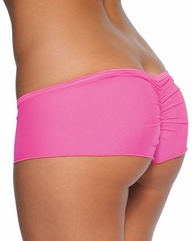 Scrunch Back Mesh Micro Short