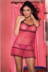 Empire Flower Mesh Babydoll