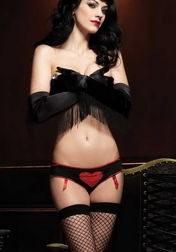 Lace Heart Burlesque Panty