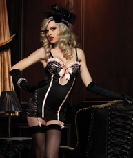 Naughty Corset Back Mini Dress