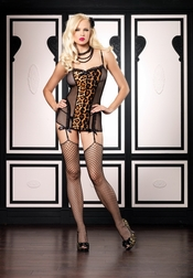 Leopard Fishnet Garter Dress