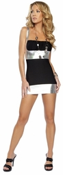 Friday Night Fever Metallic Dress