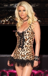 Leopard Spandex Mini Dress