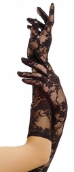 Elbow Length Stretch Lace Gloves