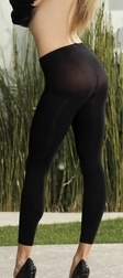 Opaque Spandex Shredded Front Leggings